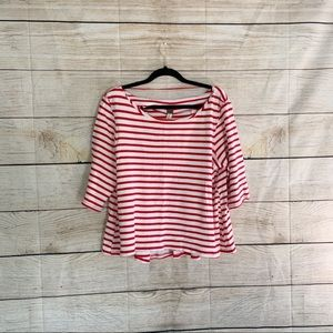 Free People Red And White Blouse